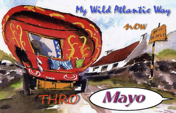 Painting - My Wild Atlantic Way....mayo by Val Byrne