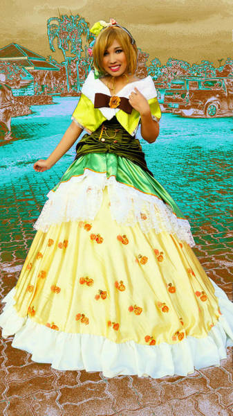 Cosplay Photograph - My Wonderful Colored Dress by Ian Gledhill