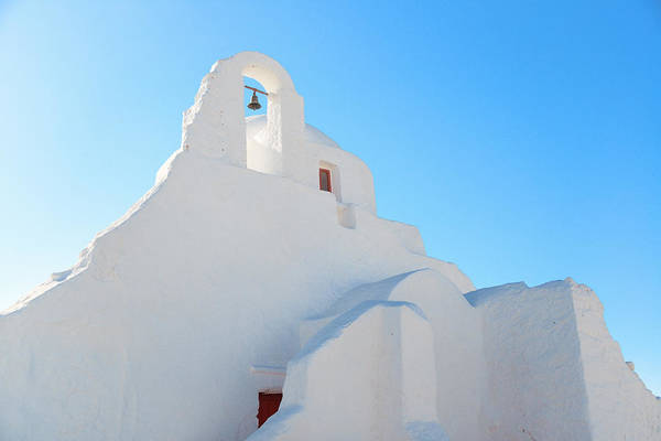 Photograph - Mykonos Church Of Panagia Paraportiani by Songquan Deng