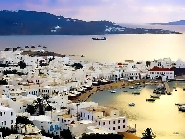 Painting - Mykonos Greece by Dean Wittle