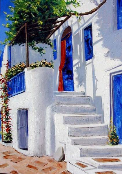 Wall Art - Painting - Mykonos by Lesuisse Viviane