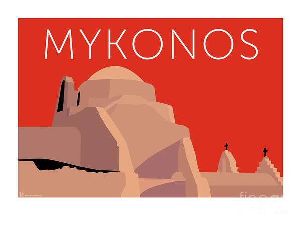 Digital Art - Mykonos Paraportiani - Orange by Sam Brennan
