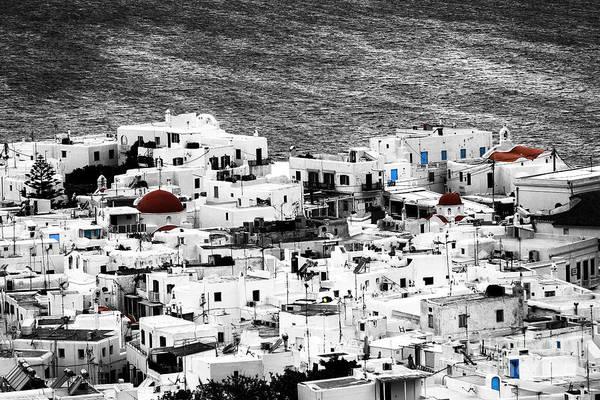Photograph - Mykonos Town Fusion by John Rizzuto
