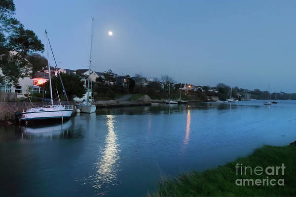 Photograph - Mylor Creek Moonrise by Terri Waters