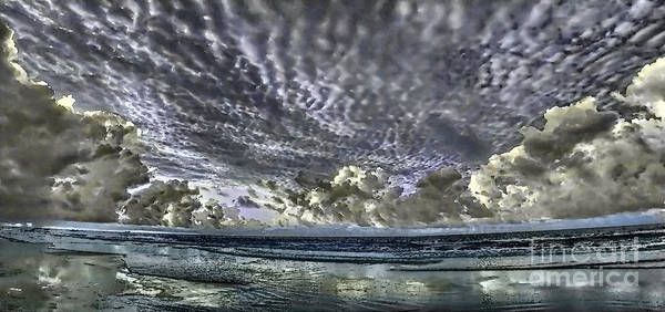 Photograph - Myrtle Beach Hand Tinted Panorama Sunrise by Jeff Breiman
