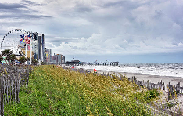 Wall Art - Photograph - Myrtle Beach On A Cloudy Day by Brendan Reals