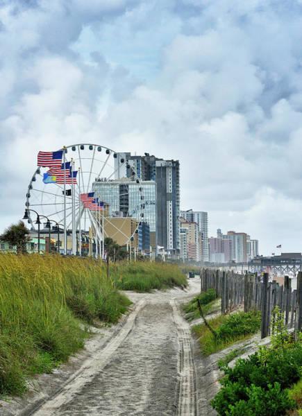 Wall Art - Photograph - Myrtle Beach - Path Through Dunes by Brendan Reals