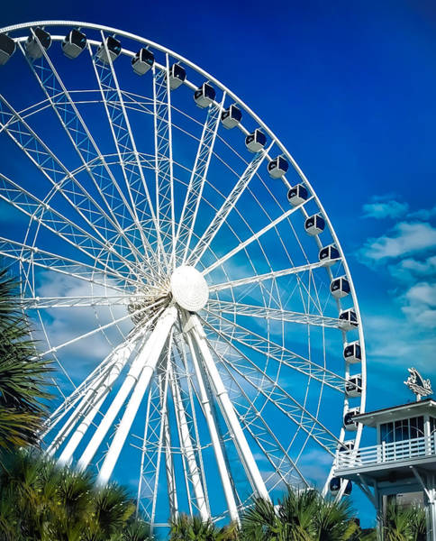 Wall Art - Photograph - Myrtle Beach Sky Wheel by Karen Wiles
