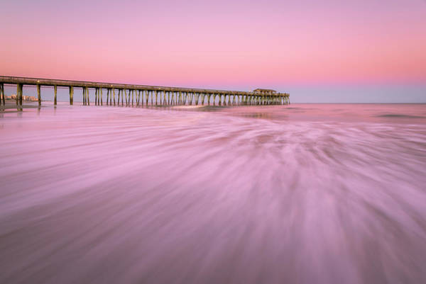 Photograph - Myrtle Beach State Park Fishing Pier At Sunset by Ranjay Mitra
