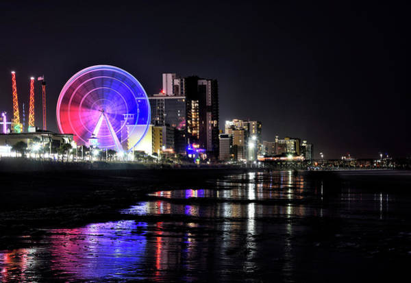 Wall Art - Photograph - Myrtle Beach View At Night by Brendan Reals