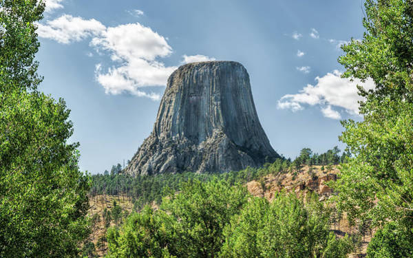 Photograph - Mysterious Devils Tower by John M Bailey