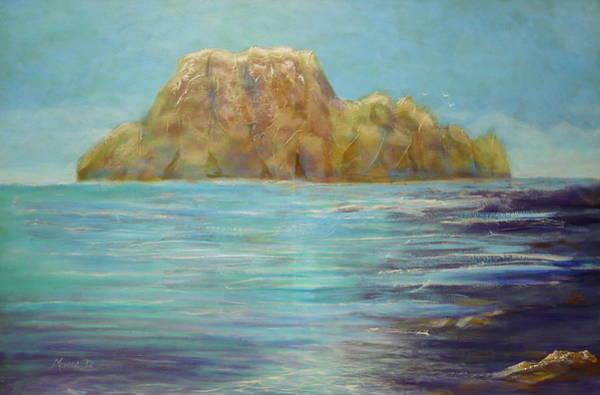 Painting - Mysterious Island by Monika Shepherdson