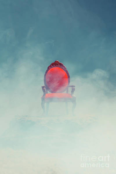 Photograph - Mysterious Red Chair by Edward Fielding