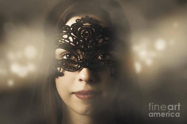 Wall Art - Photograph - Mysterious Woman At Masquerade Ball by Jorgo Photography - Wall Art Gallery