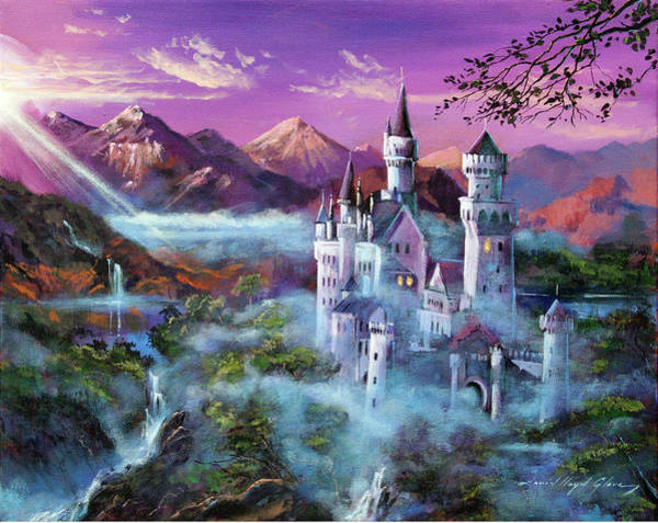 Painting - Mystery Castle by David Lloyd Glover