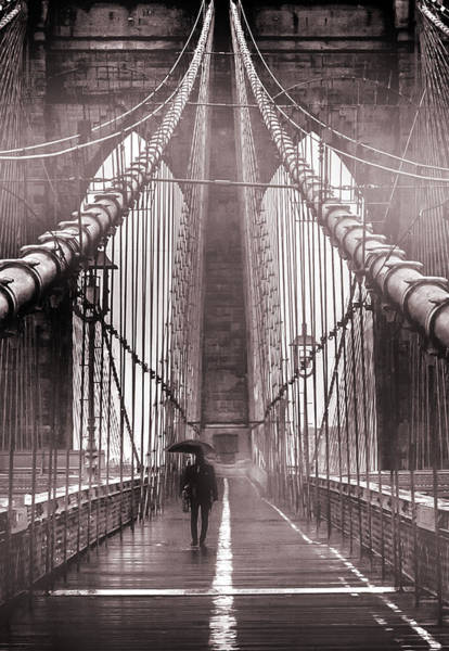 Foggy Wall Art - Photograph - Mystery Man Of Brooklyn by Az Jackson