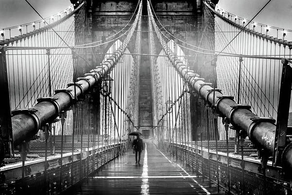 Rainy Photograph - Mystery Manhattan by Az Jackson