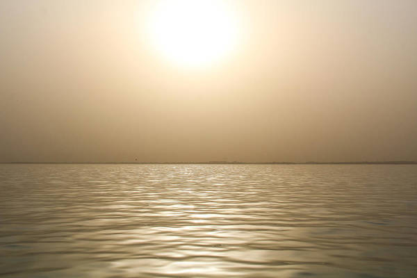 Photograph - Mystery Sandstorm Sunset- The Red Sea by Glenn Feron