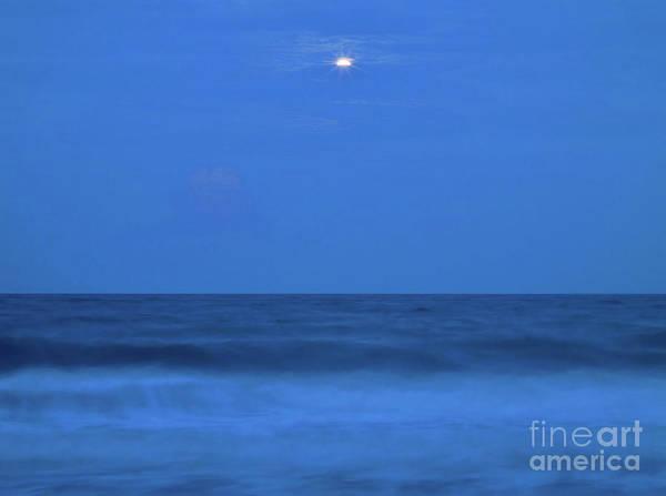Photograph - Mystic Beach Full Moon by D Hackett