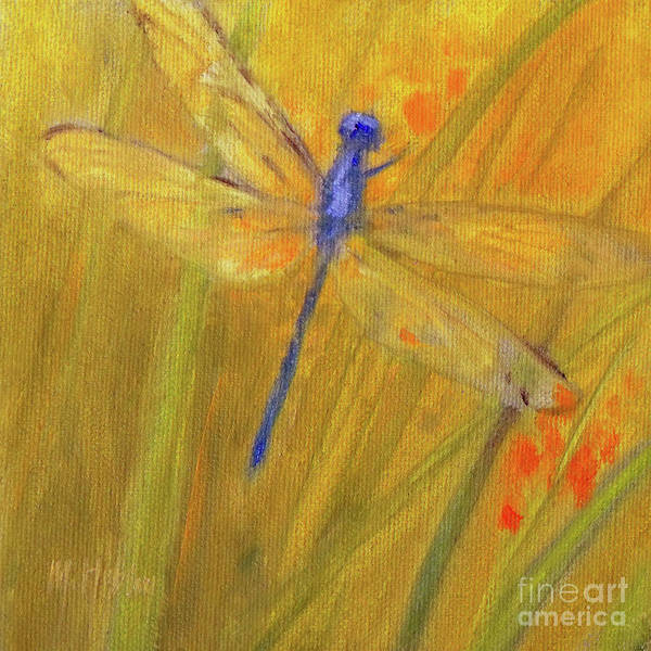 Dragon Fly Painting - Mystic Dragonfly by Mary Hubley