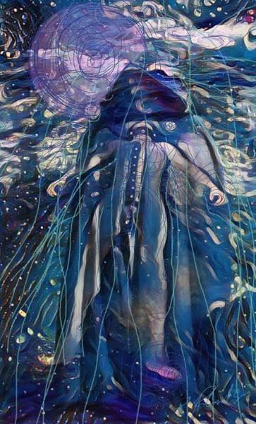 Cloak Digital Art - Mystic Flow by Michael Richardson