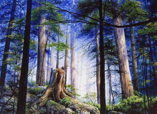In Canada Painting - Mystic Forest Majesty by Hanne Lore Koehler