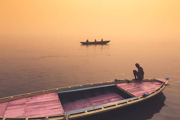 Mystic Ganges Art Print