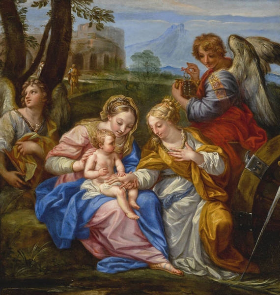Procaccini Painting - Mystic Marriage Of Saint Catherine Of Alexandria by Andrea Procaccini