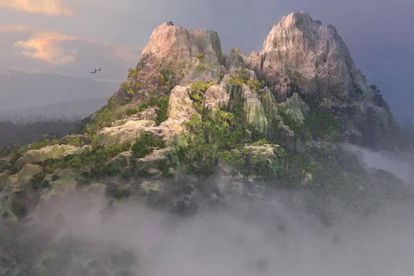 Digital Art - Mystic Mountain by Mary Almond