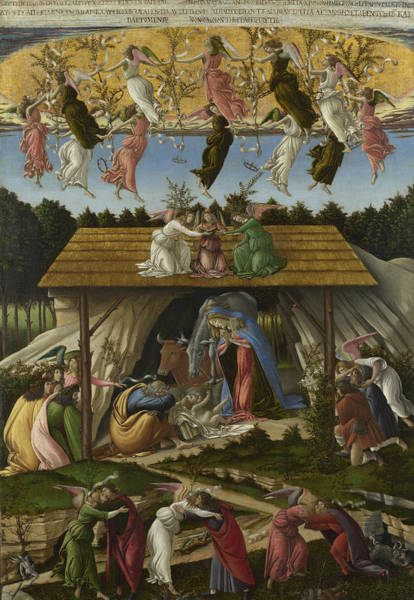 Painting - Mystic Nativity -- by Sandro Botticelli