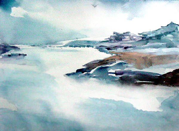 Painting - Mystic River by Anil Nene