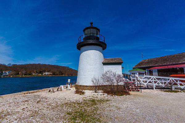 Photograph - Mystic Seaport Lighthouse by Brian MacLean