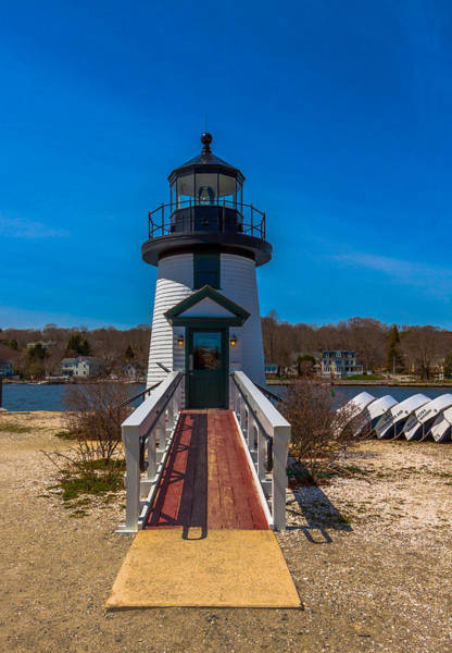 Photograph - Mystic Seaport Lighthouse Entry by Brian MacLean