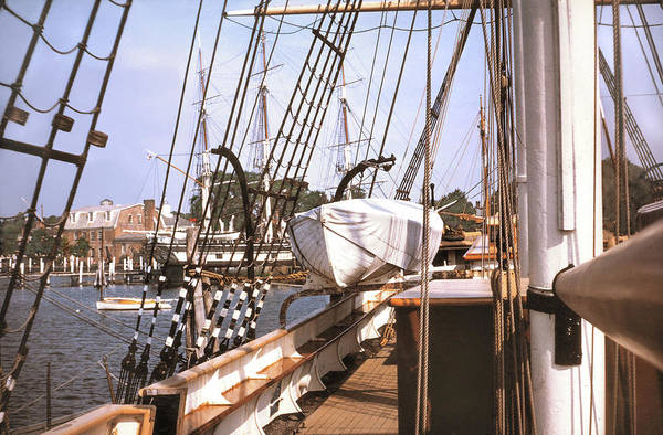 Rigging Photograph - Mystic Seaport Windjammers Vintage Tall Sailing Ships Charles Morgan Picture Decor by John Samsen