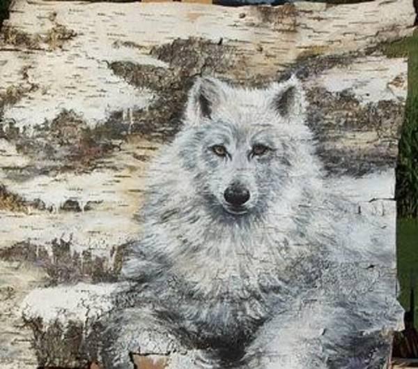 Arctic Wolf Painting - Mystic by Sherri Menozzi
