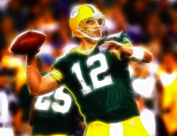 Aaron Rodgers Wall Art - Painting - Mystical Aaron Rodgers by Paul Van Scott