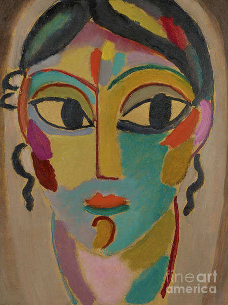 Wall Art - Painting - Mystical Head Of A Girl, 1918  by Alexej von Jawlensky