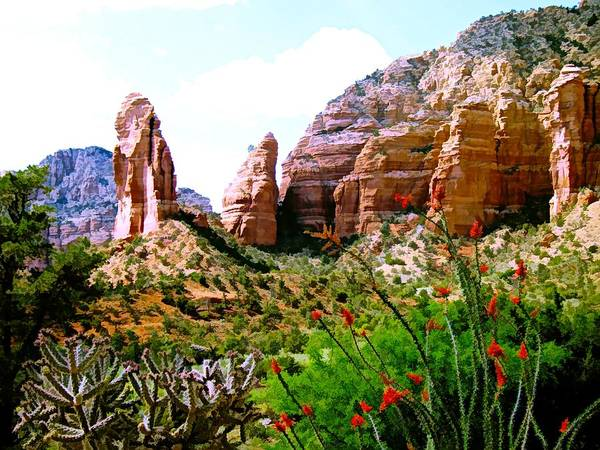 Digital Art - Mystical Red Rocks - Sedona, Arizona by Joseph Hendrix