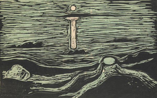 Relief - Mystical Shore by Edvard Munch