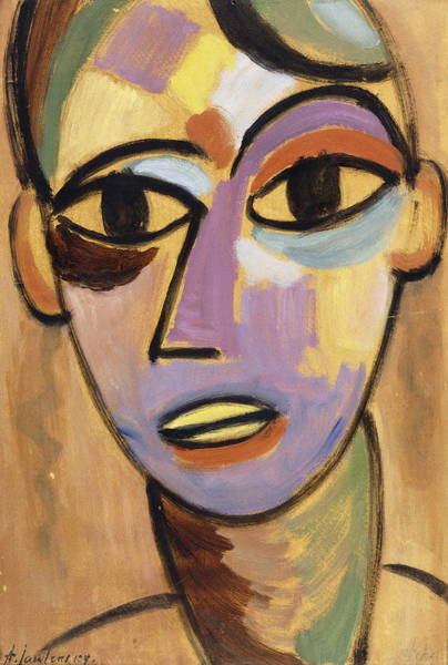 Indian God Painting - Mysticher Kopf Jungling I by Alexei Jawlensky