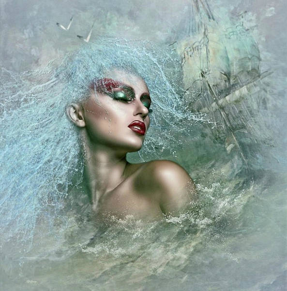 Sailboat Mixed Media - Mystique Mermaid by G Berry