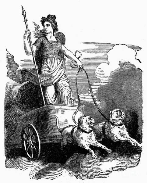 Chariot Wall Art - Photograph - Mythology Frigg Aka Freyja by Granger