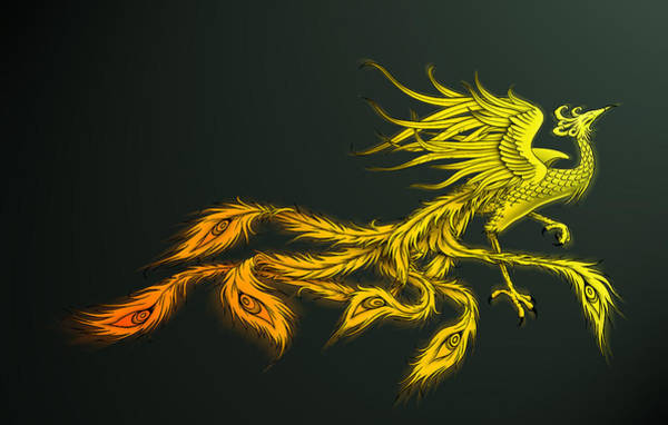 Phoenix Painting - Myths Ablaze by Simon Sturge