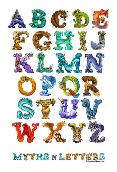 Myths N Letters Art Print