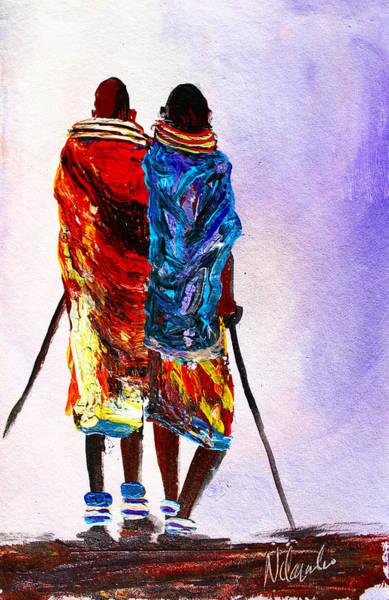 Painting - N 108 by John Ndambo
