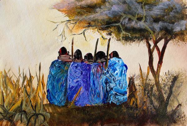 Painting - N 109 by John Ndambo