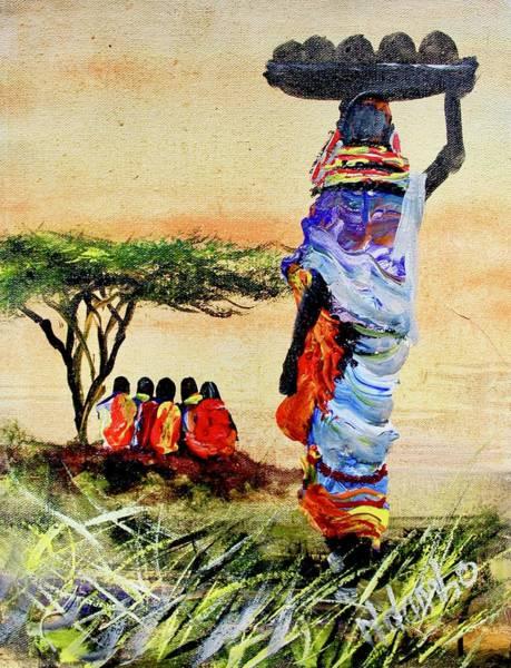 Painting - N 140 by John Ndambo