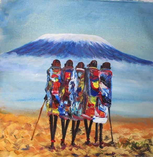 Painting - N 159 by John Ndambo