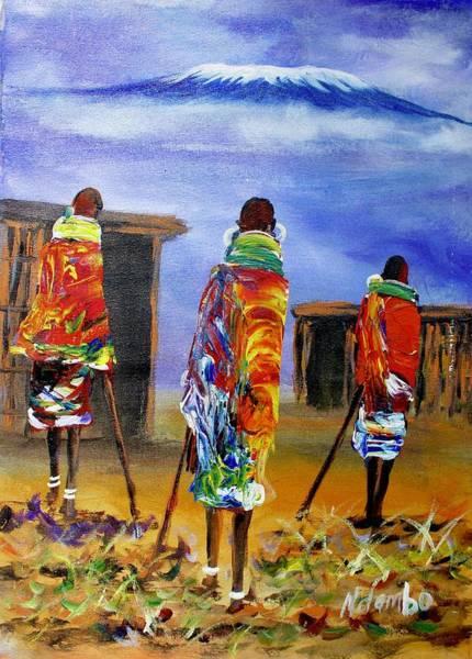 Painting - N 160 by John Ndambo