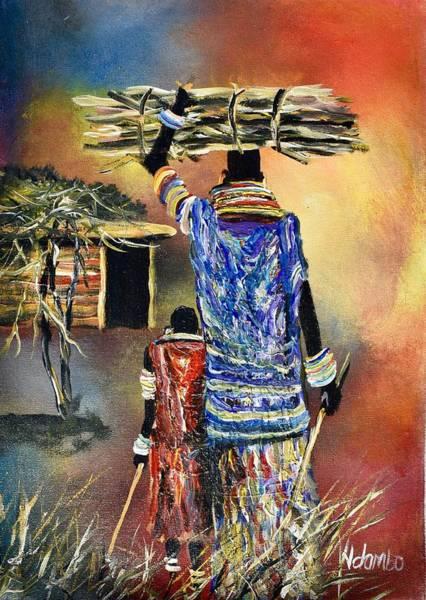 Painting - N-167 by John Ndambo